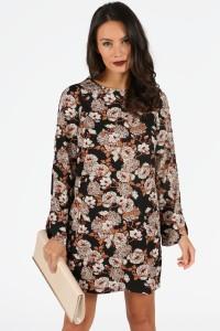 katia-tan-and-wine-floral-long-sleeve-shift-dress-4