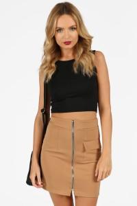 Mercy-Camel-Zip-Front-Scuba-Skirt-12