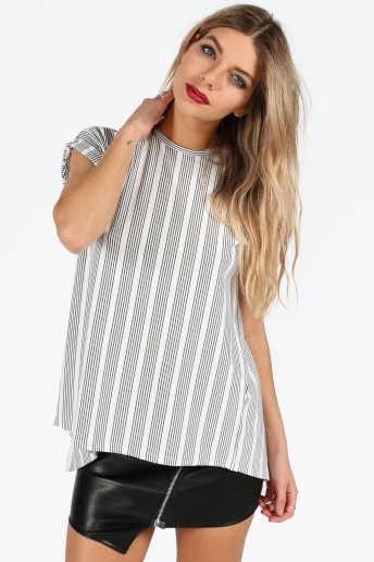 quintana-monochrome-striped-cap-sleeve-winged-back-top-1