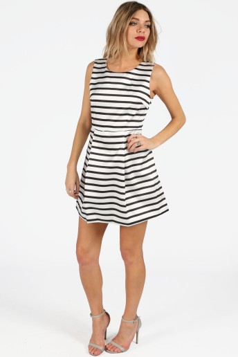 thalia-monochrome-striped-box-pleat-skater-dress-5